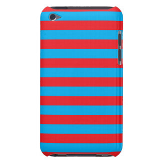 Blue and Red Horizontal Stripes iPod Touch Case-Mate Case