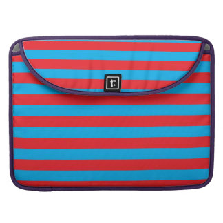Blue and Red Horizontal Stripes MacBook Pro Sleeve