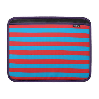 Blue and Red Horizontal Stripes MacBook Sleeve