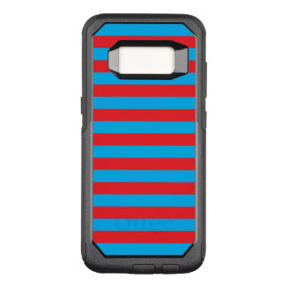 Blue and Red Horizontal Stripes OtterBox Commuter Samsung Galaxy S8 Case