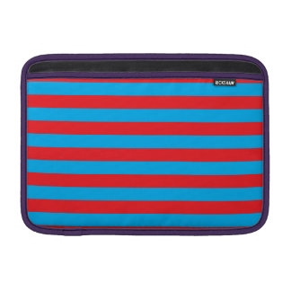 Blue and Red Horizontal Stripes Sleeve For MacBook Air
