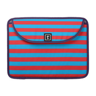 Blue and Red Horizontal Stripes Sleeves For MacBooks
