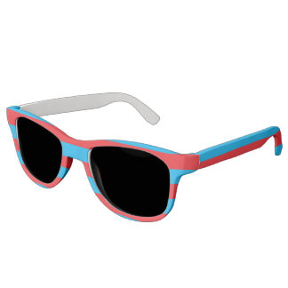 Blue and Red Horizontal Stripes Sunglasses