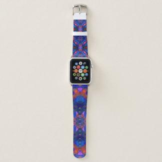 blue and red mandala apple watch band