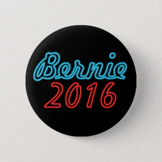 Blue and Red Neon Bernie 2016 6 Cm Round Badge