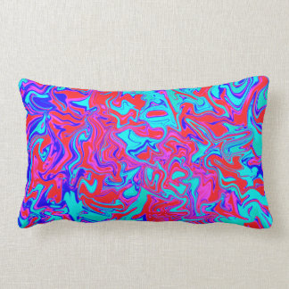 Blue and red psychedelic throw pillow throw cushions