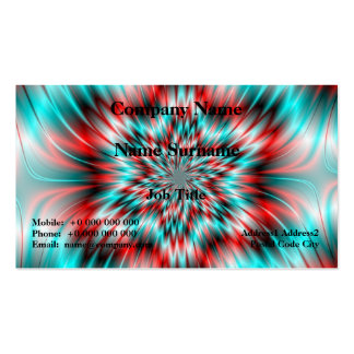 Blue and Red Star Business Card Template