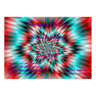 Blue and Red Star Business Card