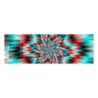Blue and Red Star Pack Of Skinny Business Cards