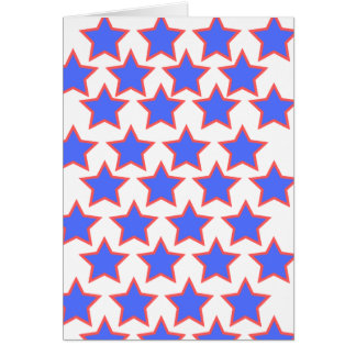 Blue and Red Stars Card