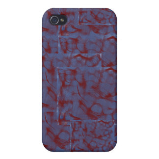 blue and red swirl blocks iPhone 4 covers