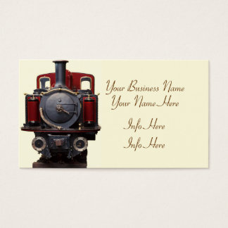 Blue And Red Train Business Card