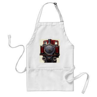 Blue And Red Train Standard Apron