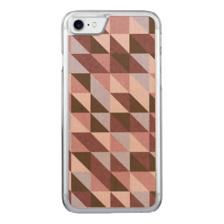 Blue and Red Triangles Carved iPhone 8/7 Case