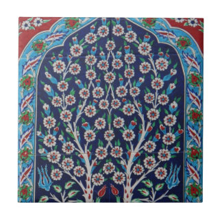 Blue and Red Turkish tiles TREE OF LIFE