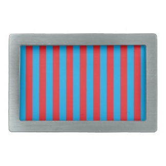 Blue and Red Vertical Stripes Belt Buckle
