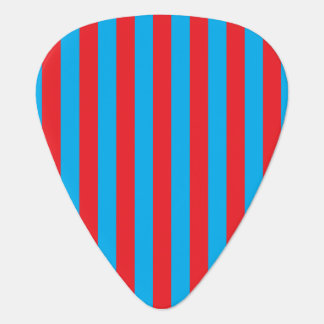 Blue and Red Vertical Stripes Guitar Pick
