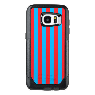 Blue and Red Vertical Stripes OtterBox Samsung Galaxy S7 Edge Case