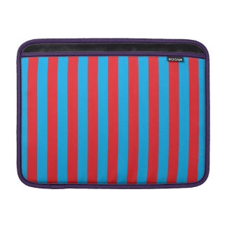 Blue and Red Vertical Stripes Sleeve For MacBook Air
