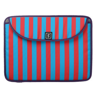 Blue and Red Vertical Stripes Sleeve For MacBooks