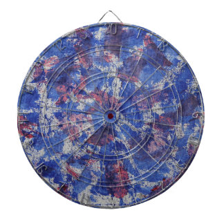 Blue and Red Watercolor Dartboard