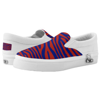 Blue and Red Zebra Shoes
