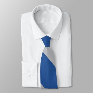 Blue and Silver Force Broad University Stripe Tie