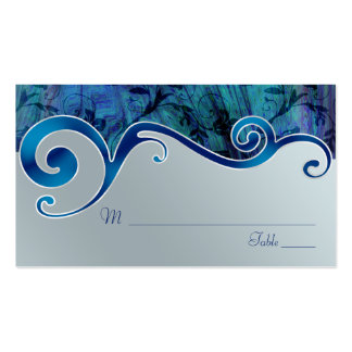 Blue and Silver Grey Wedding Place Cards Pack Of Standard Business Cards