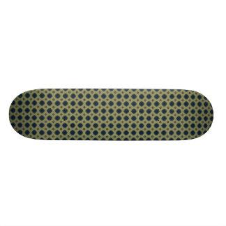 blue and tan 20.6 cm skateboard deck