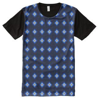 Blue and Tan Diamond All-Over Print T-Shirt