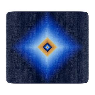 Blue and Tan Diamond Cutting Board