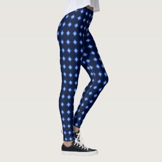 Blue and Tan Diamond Leggings