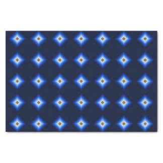 Blue and Tan Diamond Tissue Paper