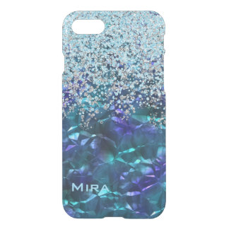 Blue and Teal Bling and Glitter iPhone 7 Case