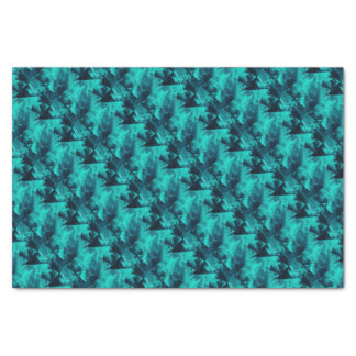 Blue and Teal Bright Abstract Pattern Tissue Paper