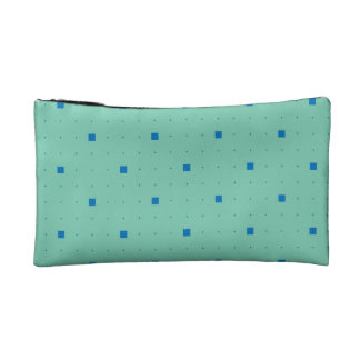 Blue and teal green make-up bag cosmetic bags