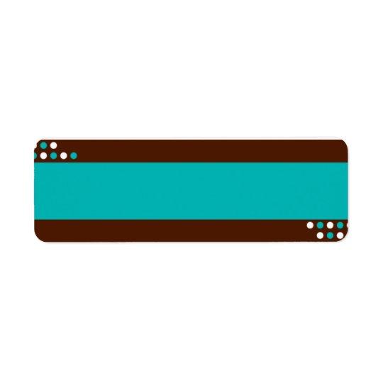 Blue and Teal Label Return Address Label