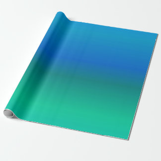 Blue and Teal Wrapping Paper