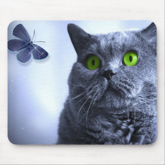 Blue and the Butterfly for the Office Mouse Pad