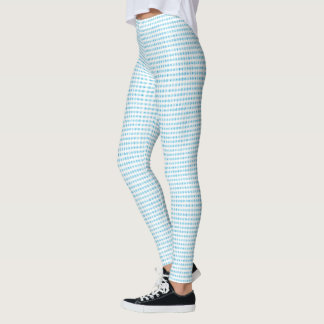 Blue and Turquoise Snowflakes Leggings