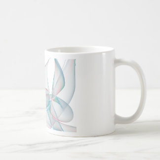 Blue and violet abstract petals coffee mugs