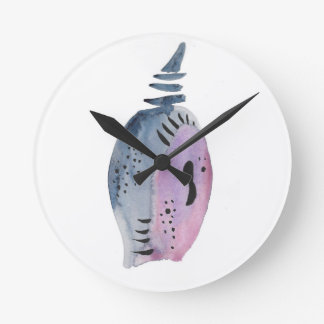Blue and violet cocoon clock