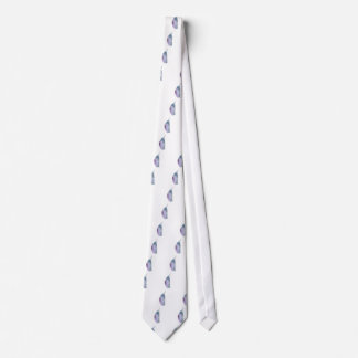 Blue and violet cocoon tie