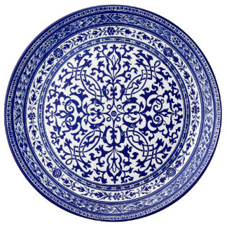 Blue And White 16th Century Roman Design Plate