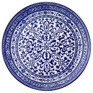 Blue And White 16th Century Roman Design Porcelain Plate