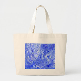 Blue and White Abstract Ripple Pattern Design Tote Bags