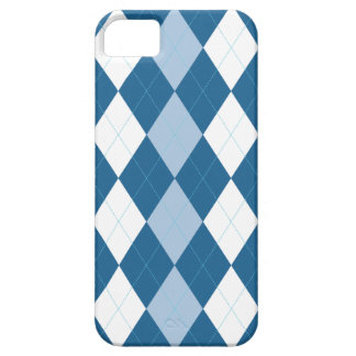 Blue and White Arglye iPhone 5 Case