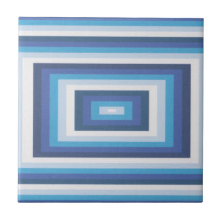 Blue and white beveled look tile