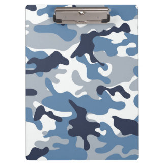 Blue and White Camouflage Clipboard