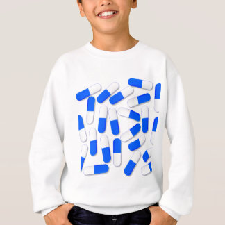 Blue And White Capsules Sweatshirt